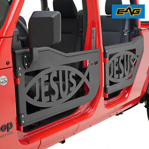Eag Jesus Fish Tubular Door With Side Mirror Fit For 2020 Jeep Gladiator Jt