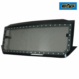 Eag Mesh Rivet Grill Stainless Steel With Shell Fit 16 18 Chevy Silverado 1500