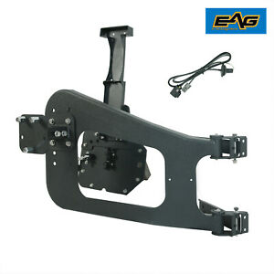 Eag Fits 07 18 Jeep Jk Tire Carrier On Door Hinge With Adjustable Tire Mount