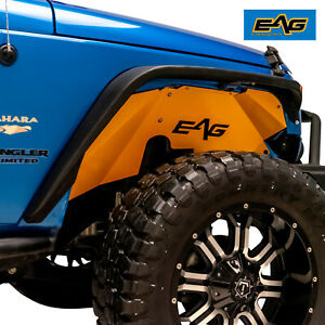Eag Inner Fender Kit Sheet Metal Yellow Front Rear Fits 07 18 Jeep Wrangler Jk