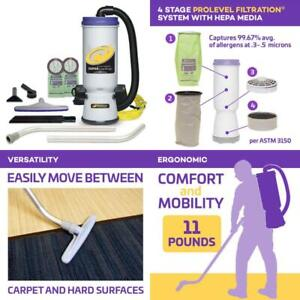 Super Coachvac 10 Qt Commercial Backpack Vacuum Cleaner Xover Multi Surface