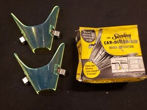 Vintage Santay Green Wind Deflector Car dition air Breezies Vent Window Lowrider
