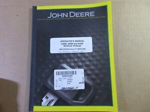 John Deere Owners Manual Omlca94322 For 630b 640b 645b Windrow Pick Up Headers
