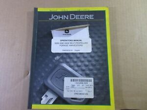 John Deere Ome58032 Owners Manual For 5200 5400 Self Propelled Forage Harvester