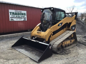 2011 Caterpillar 299c Compact Track Skid Steer Loader W Cab 2 Spd Only 2900hrs