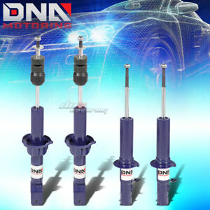 Dna For Civic Crx Front Rear Oe Suspension Gas Shocks Absorber Struts Kit Blue
