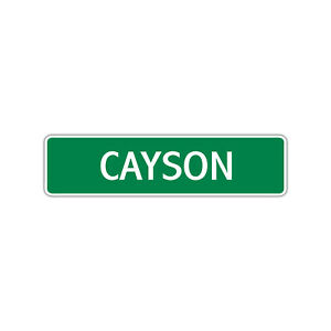 Cayson Boys Name Letter Printed Label Wall Art Decor Novelty Aluminum Metal Sign
