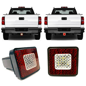 Universal Led Tow Hitch Driving Brake Lamp Reverse Light Fits 2 For Truck Suv