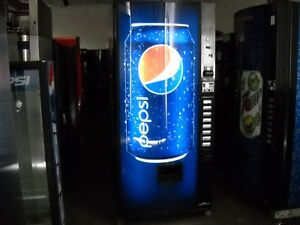 3 Dixie Narco 368 8 Bubble Front Soda Vending Machine Pepsi coke W bill Accepter