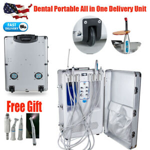 Portable Dental Delivery Unit Mobile Case Compressor Suction Curing Light Scaler
