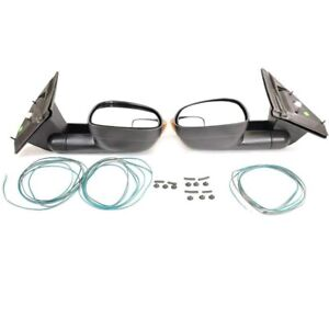 Mopar Pair Set Of 2 Power Heated Trailer Tow Towing Mirrors For Dodge Ram
