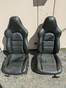 Porsche 911 996 986 Sport Seats Black Hard Back Carrera Turbo C4s Boxster