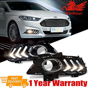 For Ford Mondeo Fusion 2013 2015 Led Daytime Running Light Fog Lamp Cover Drl Us
