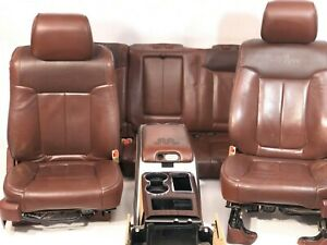 2012 2014 Ford F150 King Ranch Brown Leather Front And Rear Seats With Console