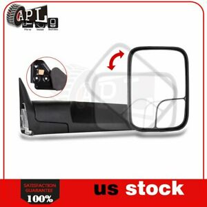 Passenger Side Manual Tow Mirror For 1994 2001 Dodge Ram 1500 2500 3500