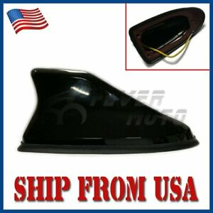 Us Roof Top Shark Fin Style Antenna Mount W Signal Receiver For Universal Car Fm