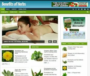 Herbs Benefits Ready Made Blog Established Profitable Turnkey Website For Sale