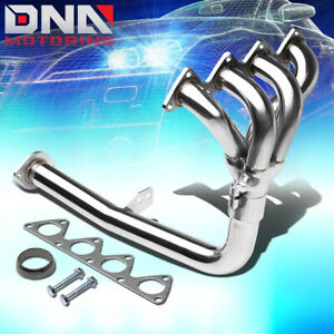 4 1 High Power Stainless Steel Header Exhaust For Acura Integra 90 91 Rs Ls Da6