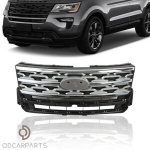 Fits Ford Explorer Limited Xlt 2018 2019 Front Upper Grille Silver