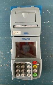 First Data Fd400 Credit Card Machine With Power Cord