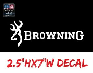 Browning Deer Buck Doe Vinyl Car Window Decal Sticker Hunting Rifle 2a Usa Gun