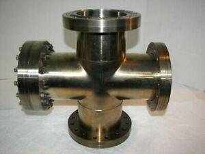 Huntington 4 way High Vacuum Research Chamber 6 Flange Reducer