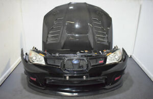 Jdm 06 07 Subaru Wrx Sti Black Front Clip With Spec c Lip And Charge speed Hood