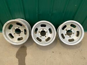 Vintage 15x8 4 25 Backspace 5x5 5 Bolt Pattern Aluminum Slot Wheels 60s 70s