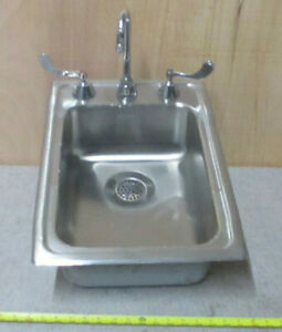 Elkay Stainless Steel Drop In Sink With Faucet 22 X 15 X 6