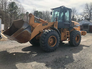 2004 Case 621d Wheel Loader 1 Owner With Forks