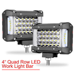 4 5 7 20 Led Cube Light Bar Backup Work Pods Driving Off Road Side Shooter