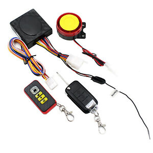 Motorcycle Bike Security Alarm System Anti theft Remote Control Engine Start 12v