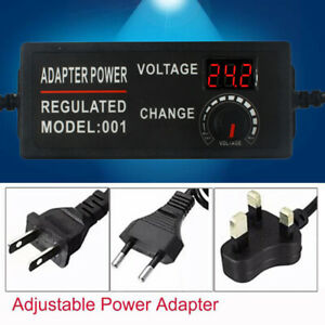 3 24v 2a 3a 5a Speed Control Volt Ac dc Adjustable Power Adapter Supply Display