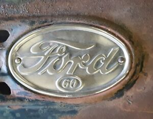 1938 1939 Ford Pickup Hood V8 60hp Badge Emblem Flathead Hot Rod Rat 1940 1937
