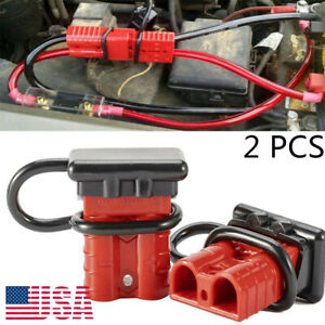 2pcs 175a Quick Battery Connector Winch Trailer Connect Wire Harness Plug 600v
