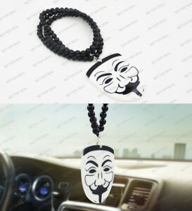 Anonymous V For Vendetta Car Auto Rearview Pendant Ornament Hanging Charm New