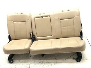 2011 2016 Ford F250 F350 Super Duty Rear Seat Set Beige Leather Oem 2012 2013