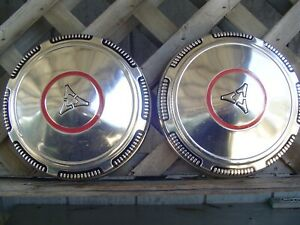 Two Vintage Plymouth Dodge Chrysler Dogdish Hubcaps Wheel Covers Charger Mopar