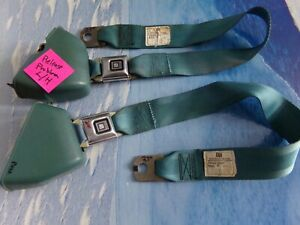 1969 71 Gm Front Seat Belt Retractors General Safety Blue Pair
