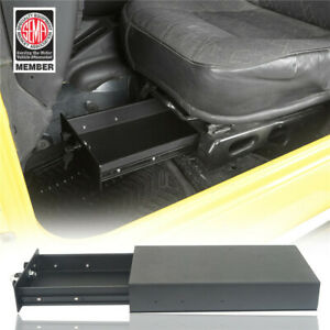 Lockable Under Seat Storage Box Safe Deposit Box For Jeep Wrangler Tj 1997 2006