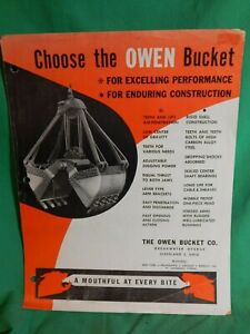 1950s Owen Bucket Co Ohio Original Sales Literature Buckets Grapples
