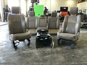 2009 2016 Dodge 1500 2500 3500 Complete Set Bench Console Bucket Leather Tan