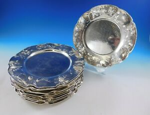 Martele By Gorham Sterling Silver Set Of 13 Charger Plates With Daisy 4661