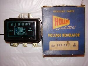 Vintage Nors Holley Voltage Regulator Mercury 1940 1955 6 Volt 40 Amp
