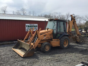 1998 Case 580l 4x4 Tractor Loader Backhoe W Cab Ext a hoe Clean