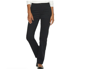 Lee All Day Relaxed Fit Straight Leg Women#x27;s Plus Black Pants 28W Long 4850301 $27.99