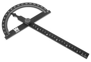 Wen Me512p Adjustable Aluminum Protractor Angle Gauge With Laser Etched Scale