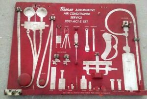 Vintage Snap on Automotive Air Conditioner Service Board Conditioning 2120 act s