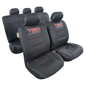 Black Canvas Seat Cover Full Set Universal Fit For Toyota Tacoma 4runner
