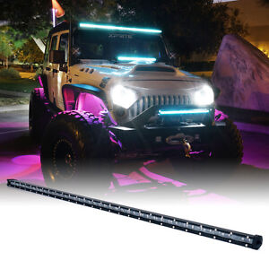 Xprite Blue Backlight 44 210w Spot Beam Led Work Light Bar Combo Truck Offroad
